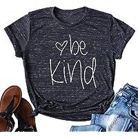 YUYUEYUE Be Kind Shirt Women Tshirt Casual Short Sleeve Summer Tops Christian T-Shirt Blouse Tee