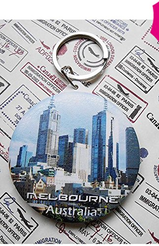 australian-souvenirs-gift-mirror-key-chain-melbourne-fold-skin-surface