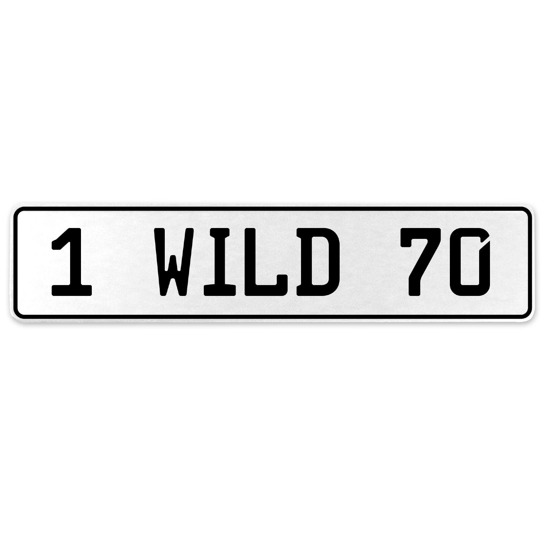 Vintage Parts 555954 1 Wild 70 White Stamped Aluminum European License Plate