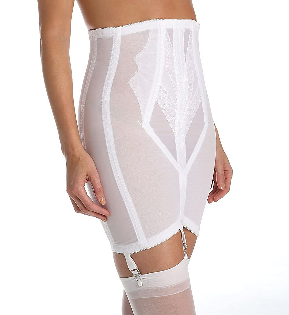 Rago Shapewear Women's Plus-Size High Waist Open Bottom Girdle with Zipper 1294X