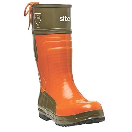 Sitio motosierra botas naranja/verde Tamaño 8