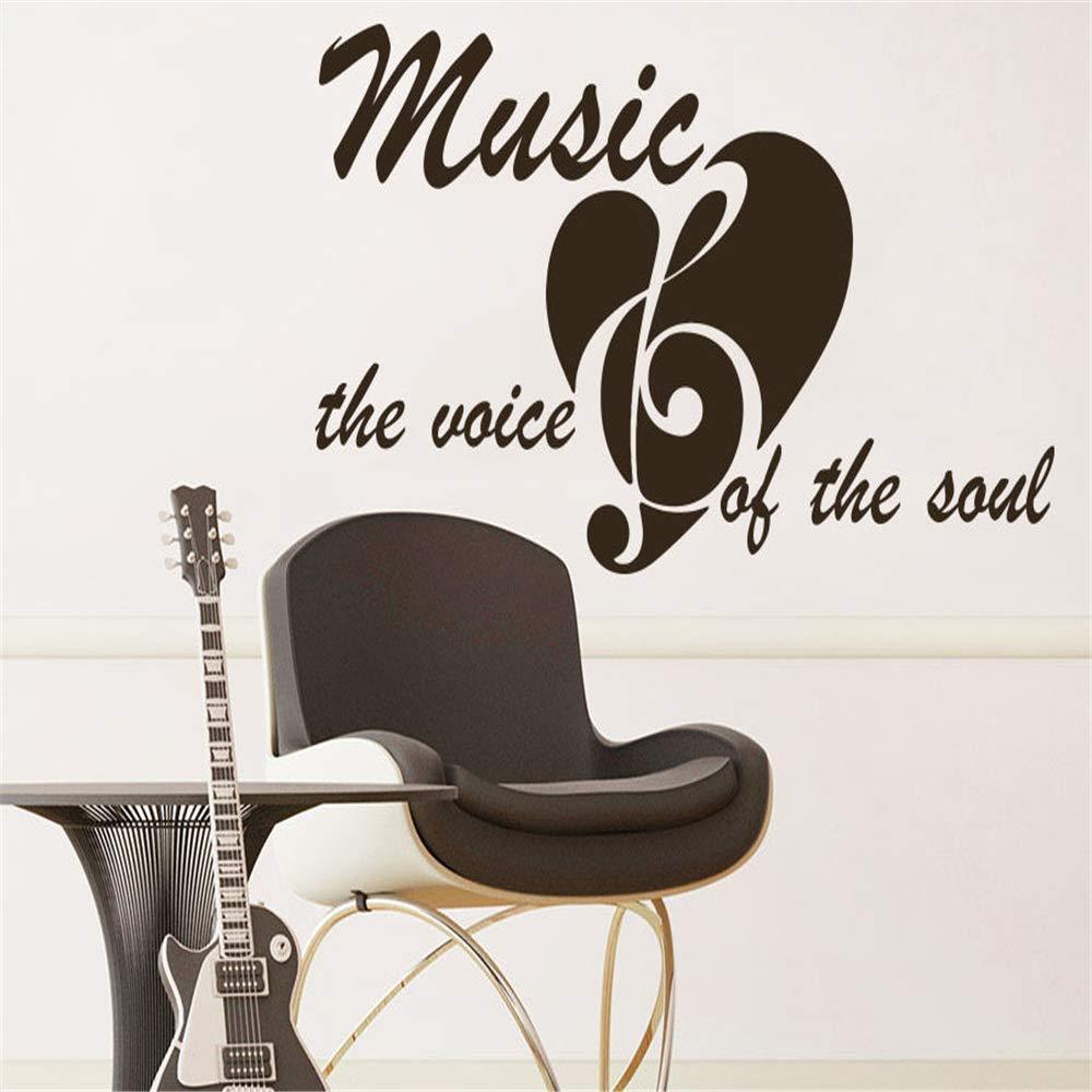 yiyiyaya Tatuajes de Pared Citar Música la Voz del Alma Estudio de ...