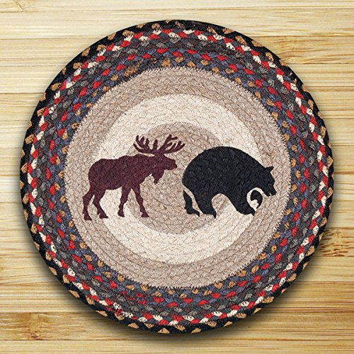 15.5in. x 15.5in. Bear & Moose Round Chair Pad