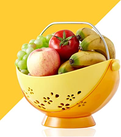 CJH Creativo Moderno para la Sala de Estar casera Coffee Table Swing Fruit Basket (Color : Yellow): Amazon.es: Hogar