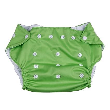 EOZY Ajustable Tamaño Unisexo Reutilizable Bañador Pañal De Tela Para Bebé Verde