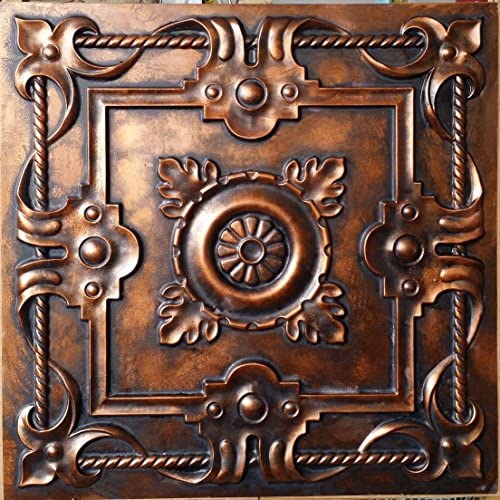 PAINTSDECOR Faux tin Ceil Tiles Paint Archaic Copper Color Restaurant Decor Wall Panels PL29 10pcs/lot
