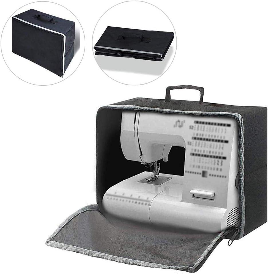 Máquina de coser cubierta de polvo y estuche de transporte - Heavy Duty plegable universal de la máquina de coser bolsas de mano, ajuste para máquina más estándar hermano de coser Singer: