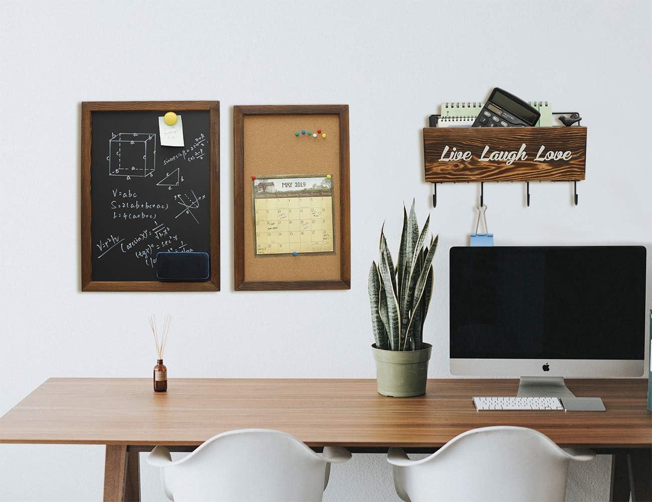 Soporte r/ústico para correo y llaves para pared organizador de correo con ganchos para colgar en la pared letreros decorativos y placas de metal estante//estantes colgantes organizador de entrada