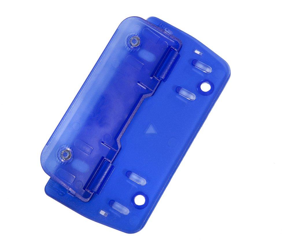 color azul Perforadora doble para archivar, punzones met/álicos, con regla integrada de 12/cm Genie PP-2