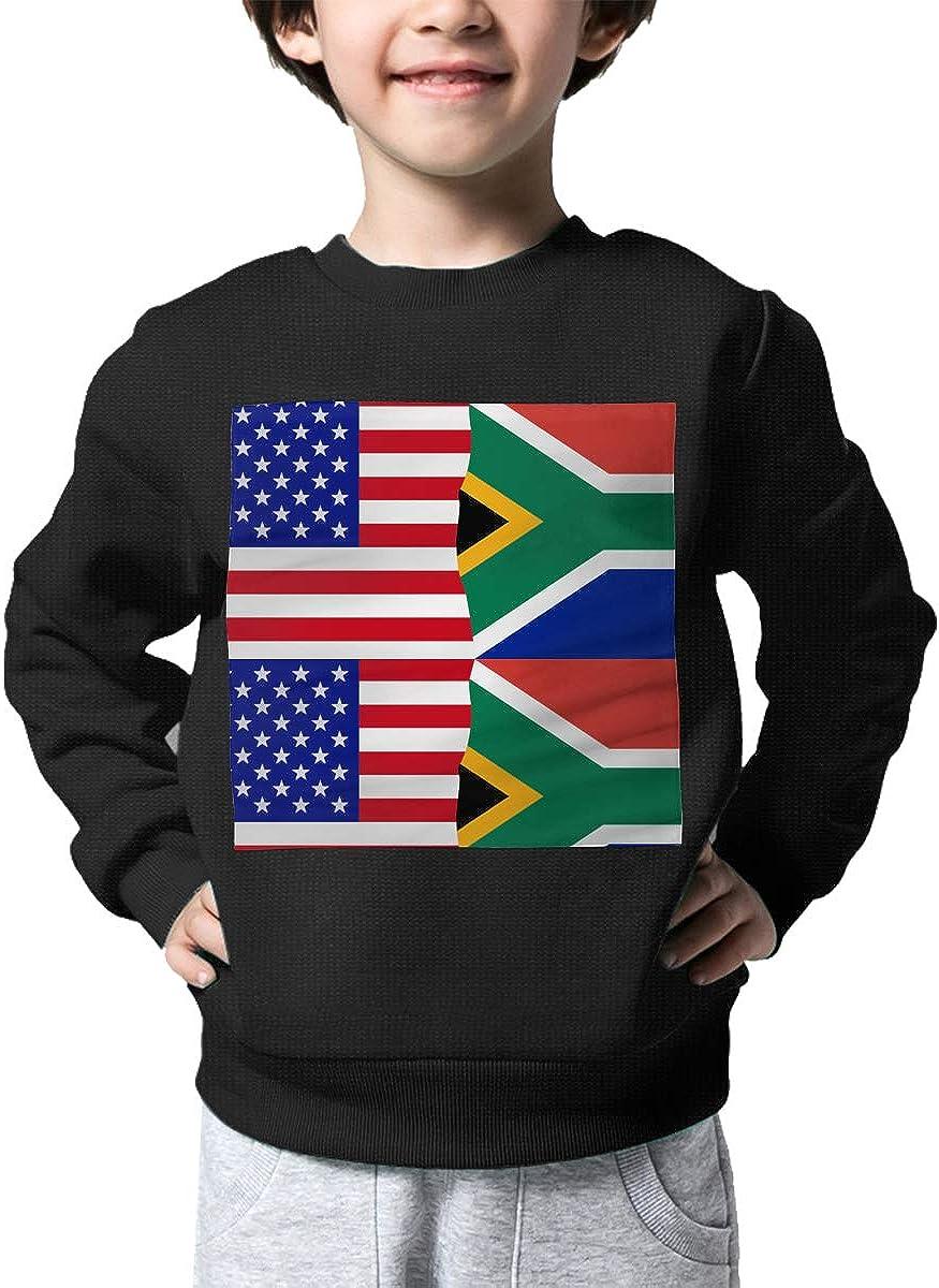NJKM5MJ Boys Girls Half USA Half South African Flag Lovely Sweaters Soft Warm Kids Sweater
