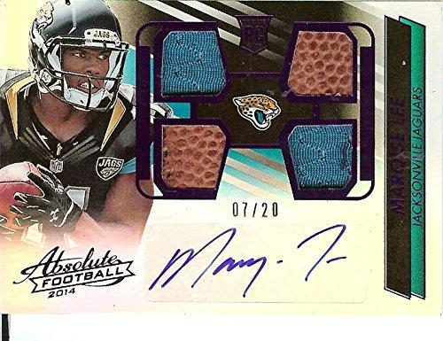 Football NFL 2014 Absolute Rookie Autographed Jersey Ball #230 Marqise Lee RC Rookie MEM Auto 2/20 Jaguars