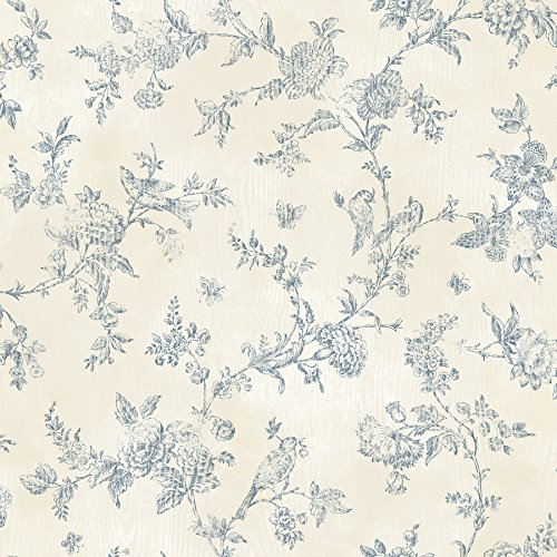 Chesapeake CCB02192 Country French Nightingale Blueberry Toile