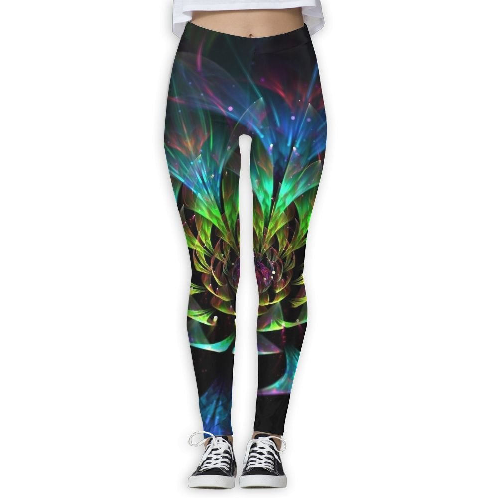 bc5321a5bc0 Girls Funny Trippy Lotus Fitness Yoga Leggings Pants Workout Capri