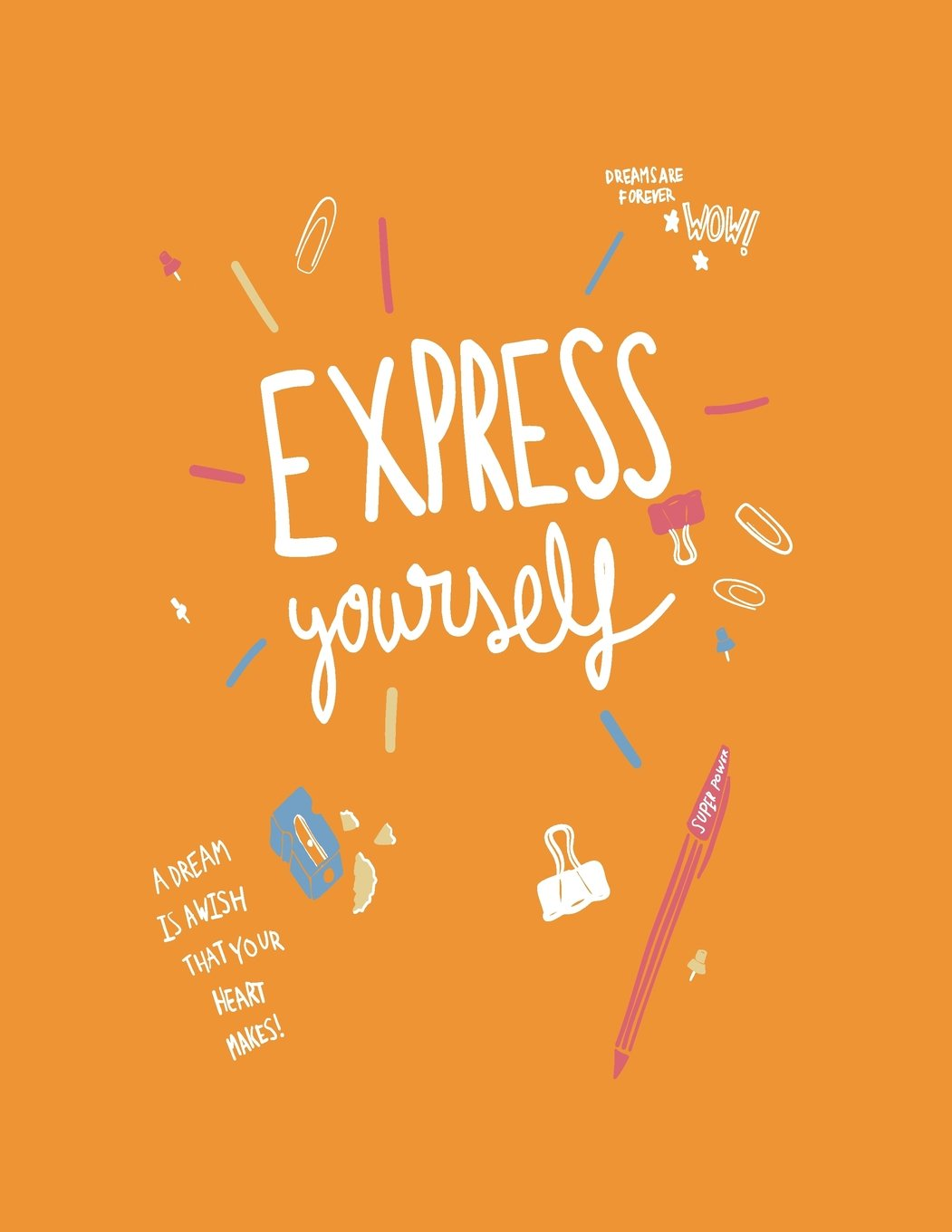 Express yourself: Express yourself on orange cover and Dot Graph Line Sketch pages, Extra large (8.5 x 11) inches, 110 pages, White paper, Sketch, ... yourself on orange notebook) (Volume 7) pdf