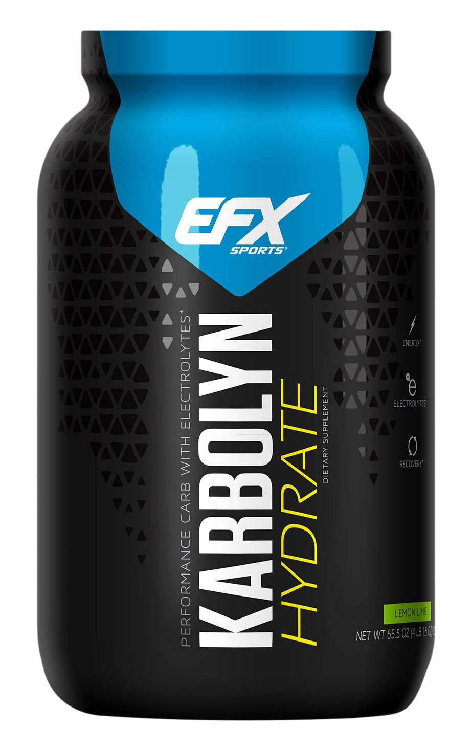 EFX Sports Karbolyn Hydrate Powder, Lemon Lime, 65.5 Ounce