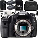 Sony Alpha a77 II DSLR Camera (Body Only) 9PC Accessory Bundle – Includes 32GB SD Memory Card + 2x Replacement Batteries + AC/DC Rapid Home & Travel Charger + MORE