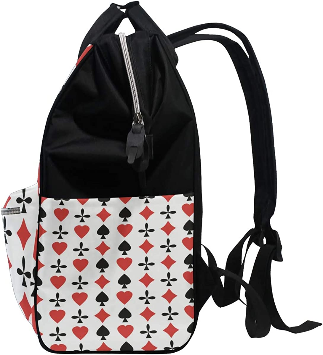imobaby Amazing Poker Cards Pattern Changing Bags Large Capacity Handbags Canvas Shoulder Bag Backpack