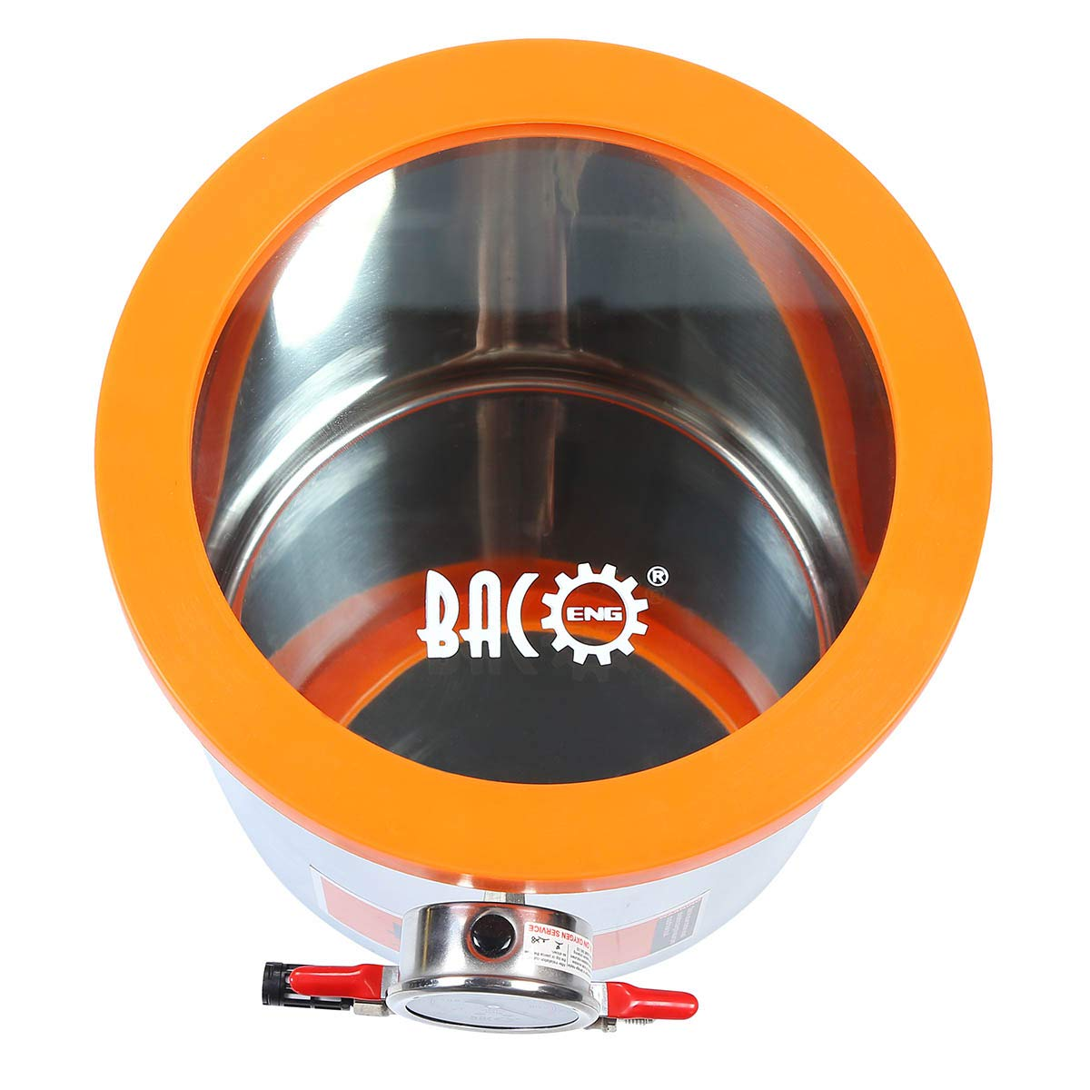 BACOENG 3 Gallon Tempered Glass Lid Stainless Steel Vacuum Chamer Perfect for stabilizing Wood, Degassing Silicones, Epoxies and Essential Oils by BACOENG (Image #2)