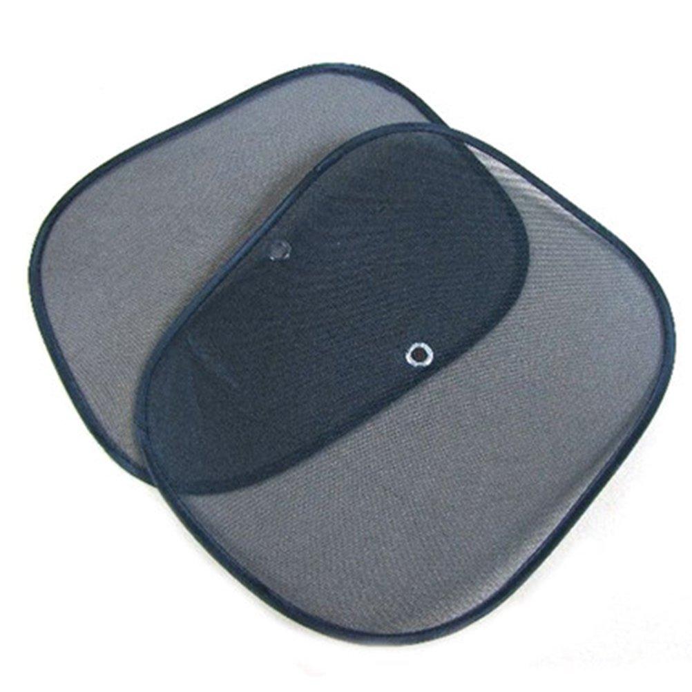 Demarkt 2X Sun Shade for Car Window Gauze Maximum UV and Sun Protection Transparent Sunshades (Black)