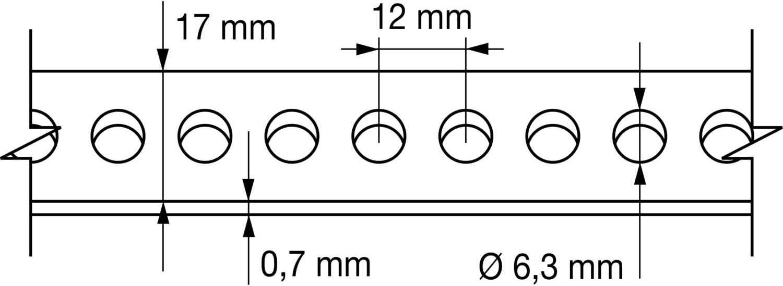 19 x 0,8 x 10 m, 1 uds. Index 184 CIPR1908 Index CIPR1908-Cinta perforada galvanizada recta