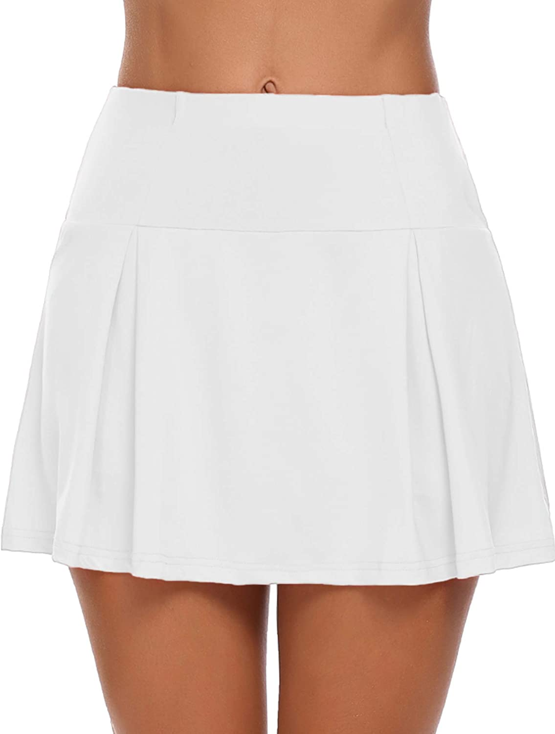 Guteer Women's Active Skirt Athletic Tennis Skort Pleated Stretchy Sports  Skirt Training Running Workout Golf at Amazon Women's Clothing store