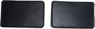 product image for Firefighter black safety leather helmet patch identifier 1 pair Made in USA.