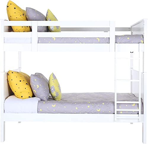 Konrad Furniture London Solid Hardwood Bunk Bed Full Over Full