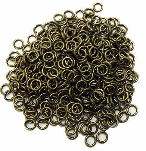 Rockin Beads 400 Jump Rings Antiqued Brass 6mm Round 18 Gauge Open 4mm Inside Jewelry Chain Links ()