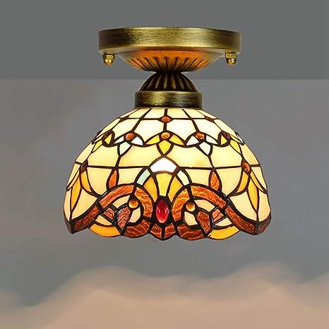 HHRONG Luz de techoTiffany lámpara de Techo de Estilo Retro ...