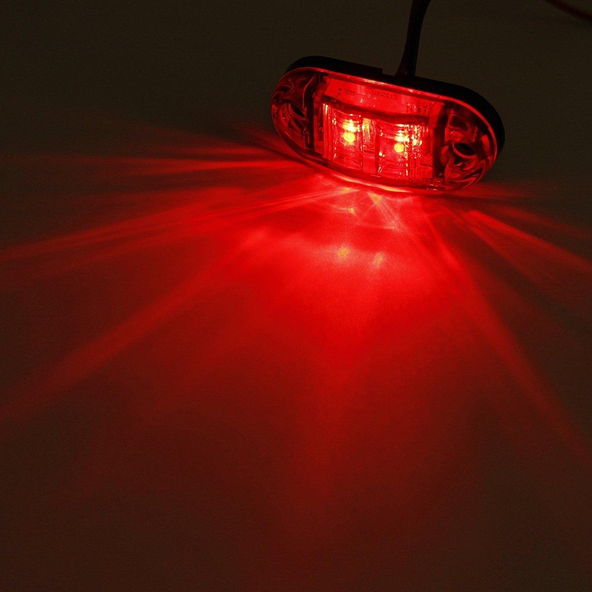 LED Seitenmarkierungsleuchten 12V//24V f/ür Auto LKW Anh/änger SUV Van Wasserdicht Markierungsleuchten E-geprueft-WildAuto Blau 4pcs