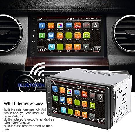 """Swiftswan 7""""Android 6.0 Dual DIN Coche Navegación GPS Audio Reproductor de video con Radio"""