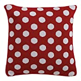 Ethan Allen Disney Dotty Knit Pillow, Mickey's Shorts Red