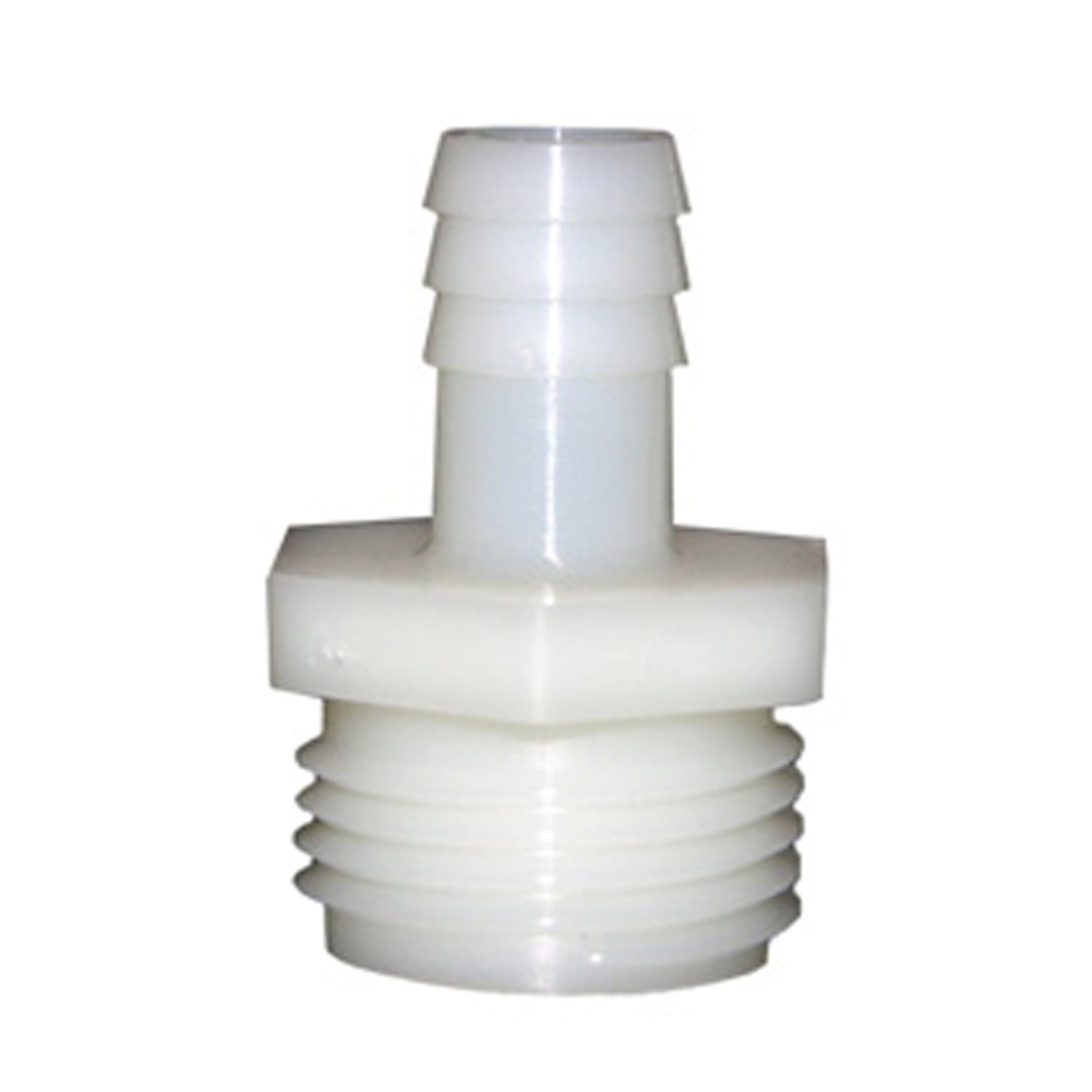 LASCO 19-9507 Male Hose Thread Adapter Barb Fitting with 5/8-Inch Barb and 3/4-Inch Male Hose Thread, Nylon