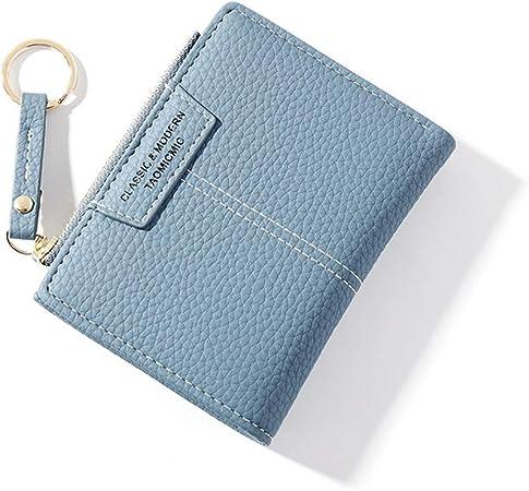 Damen PU Leder Mini-Geldbörse Geldbeutel Münztasche Portemonnaie Kartenhalter DE