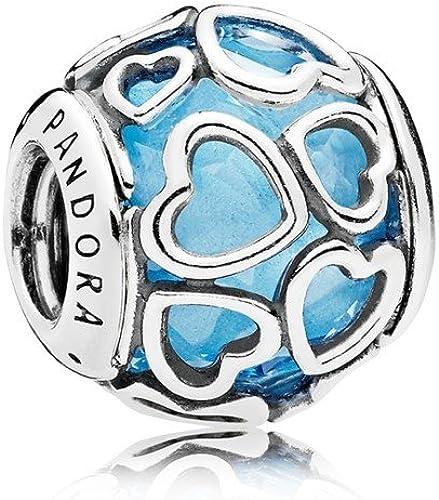 PANDORA Charm en argent avec facetté Coeur Bleu Ciel – 792036 NBS ...