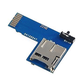 MakerHawk Raspberry Pi Adaptador de tarjeta TF doble Adaptador de tarjeta Micro SD 2 en 1 Interruptor de sistema dual para Frambuesa Pi B + 2B 3B y ...
