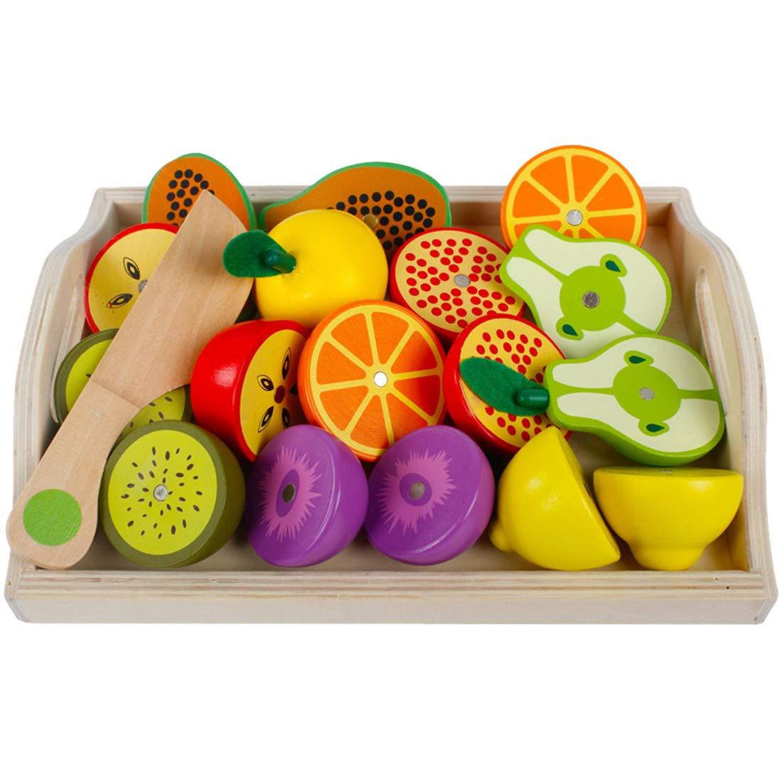 MAJOZ Cortar Frutas y Verduras Juguete Madera Magnético ...