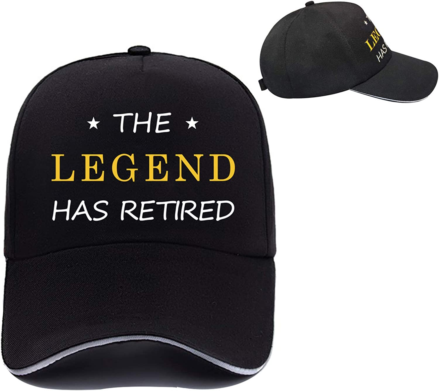 Retired Baseball Hat, Retirement Party Supplies, Retirement Gifts for Dads Boss-The Legend Has Retired Black