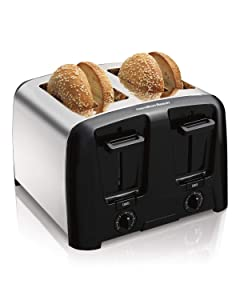 Hamilton Beach Cool Wall 4-Slice Toaster, Chrome