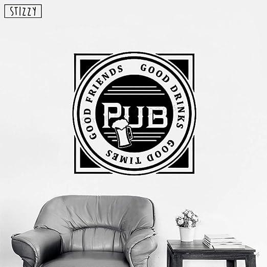 yaoxingfu Etiqueta de la Pared Cerveza Pub Logo Design Vinilo ...