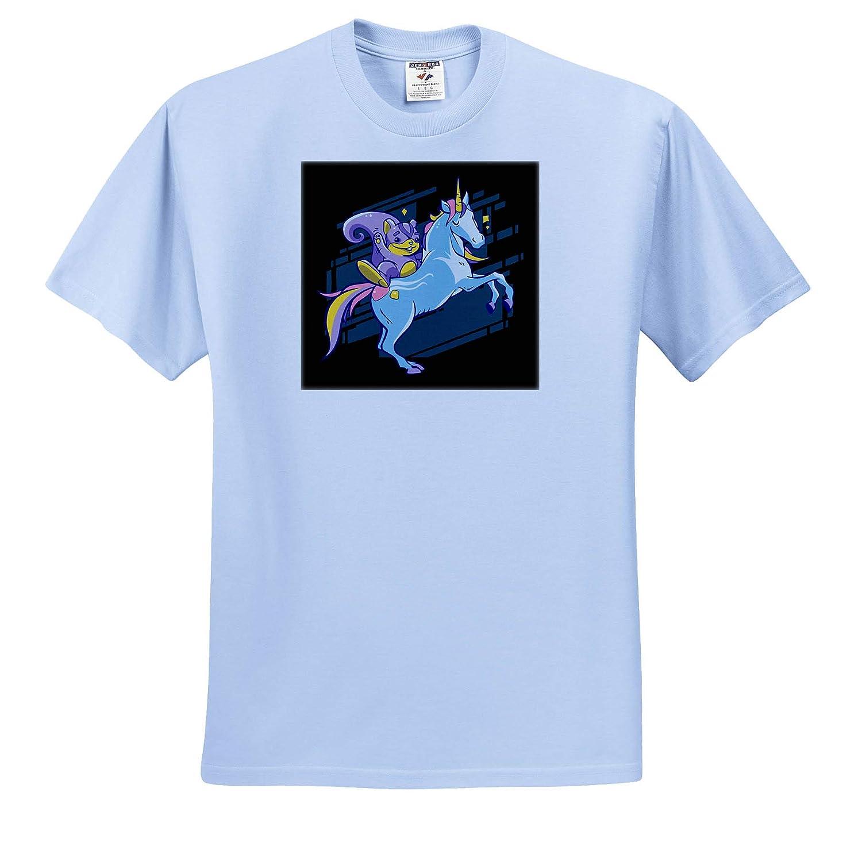 Illustration with Unicorn Horse and Squirrel Fantasy Rainbow 3dRose Sven Herkenrath Animal ts/_318914 Adult T-Shirt XL
