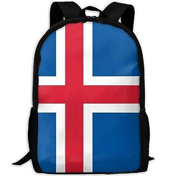 Bandera de Islandia Full 3D Impresión Mochila Colegio Escuela portátil Bolsa de Viaje Bolso de Hombro para Unisex: Amazon.es: Hogar