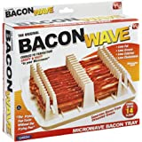 """Emson Bacon Wave, Microwave Bacon Cooker, New, 9.96"""" x 8.03"""" x 0.37"""" (Length x Width x Height), White"""