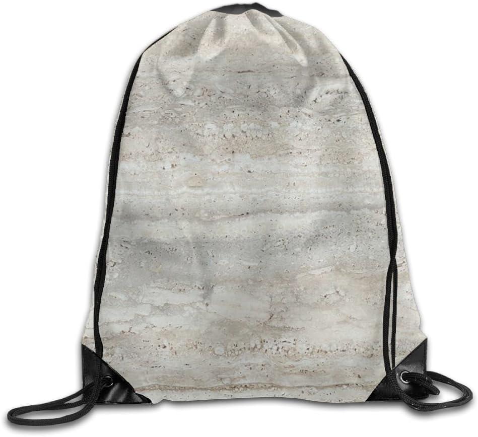 VIMUCIS Grayish Marbling Drawstring Backpack Rucksack Shoulder Bags Training Gym Sack For Man And Women