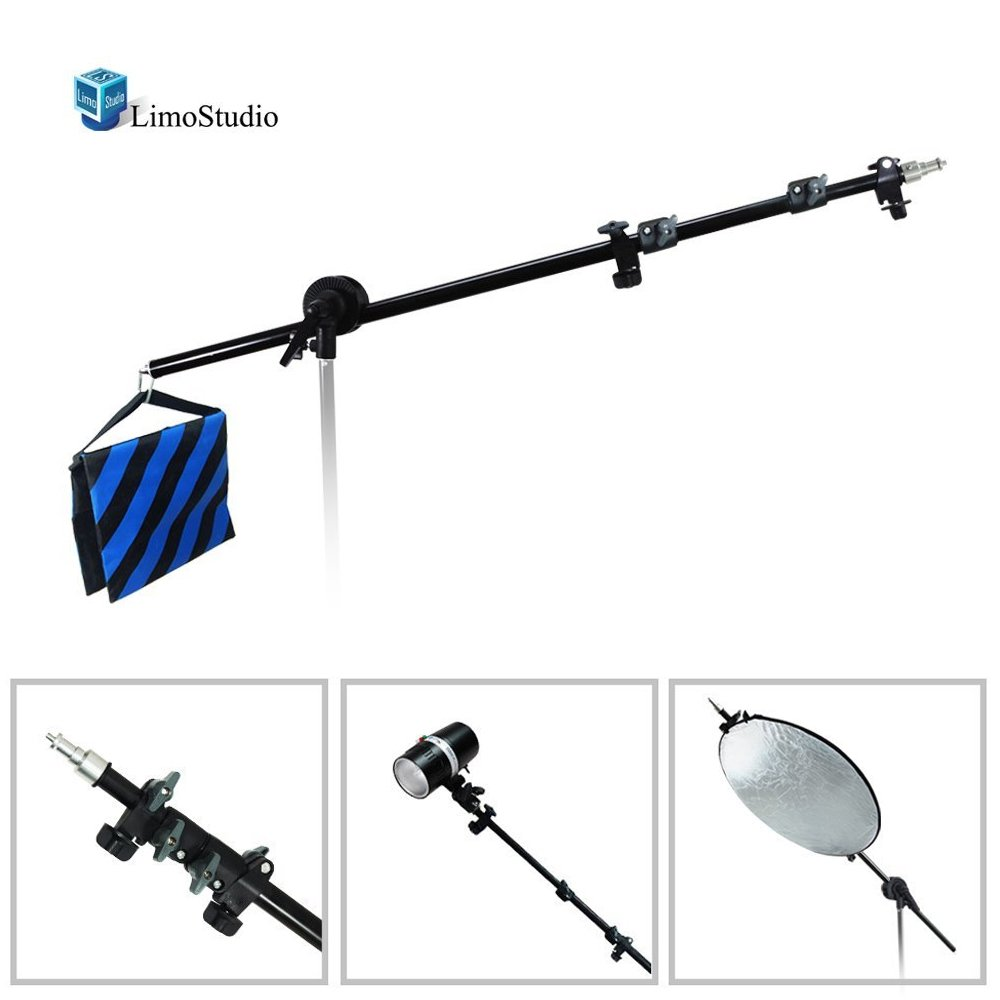 LimoStudio Photo Video Studio Lighting Boom Arm with Sandbag, AGG289