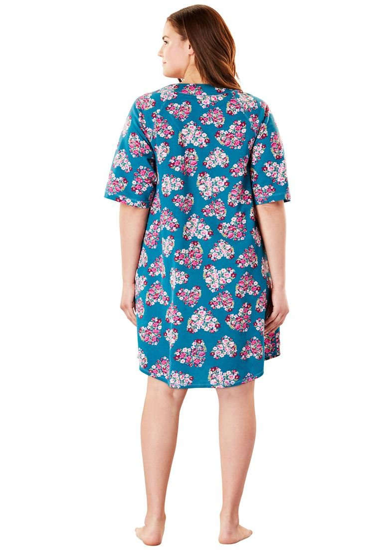 Dreams & Co. Women's Plus Size Short French Terry Robe by Dreams & Co. (Image #3)