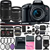 Canon EOS Rebel T7i DSLR Camera with EF-S 18-55mm f/3.5-5.6 IS STM Lens + EF-S 55-250mm f/4-5.6 IS STM Lens + 2Pcs 32GB SD Memory + Automatic Flash + Filter & Macro Kits + MUCH MORE!