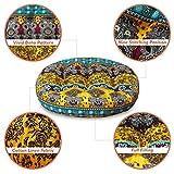 HIGOGOGO Round Bohemian Floor Cushion, Cotton Linen
