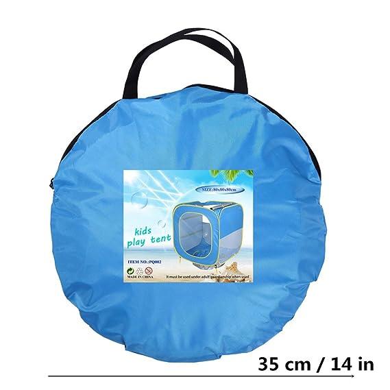 Pueri Tienda de Camapaña de Playa para Bebés Piscinas Plegables de Bolas Tienda de Campaña Portátil para Playa Protección de uv para Niños (A): Amazon.es: ...