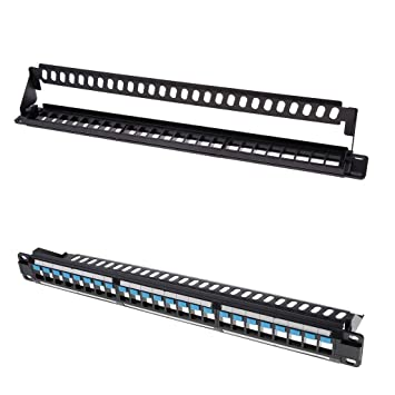 2Pack Ethernet UTP Patch Panel 24Ports RJ-45 Wall Mount Keystone Patchpanel